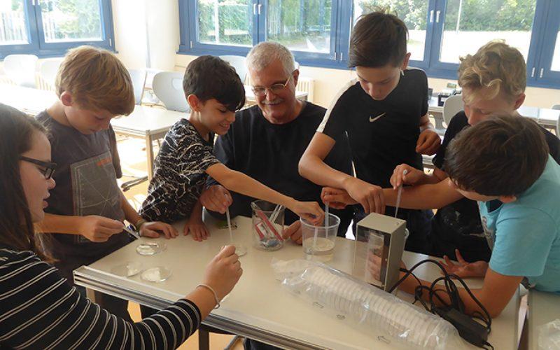 Begeisterte Schüler der DBS-Lich im Projekt ExoLab